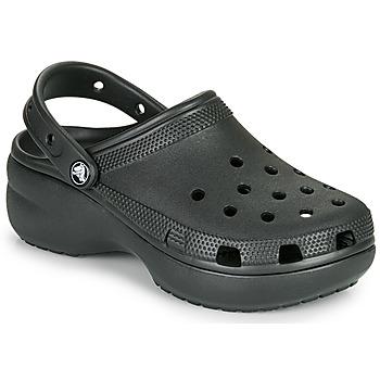 kengät Naiset Puukengät Crocs CLASSIC PLATFORM CLOG W Musta