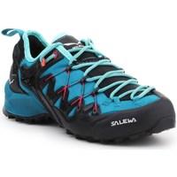 kengät Naiset Juoksukengät / Trail-kengät Salewa WS Wildfire Edge Grafiitin väriset,Vaaleansiniset