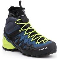 kengät Miehet Vaelluskengät Salewa MS Wildfire Edge Mid Gtx Mustat, Vaaleansiniset, Vaaleanvihreä