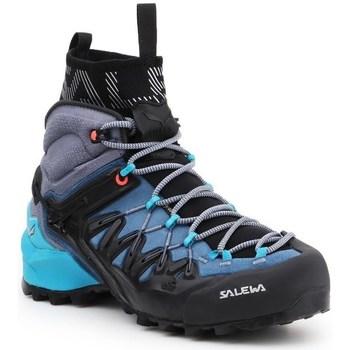 kengät Naiset Vaelluskengät Salewa WS Wildfire Edge Mid Gtx Mustat, Vaaleansiniset, Grafiitin väriset