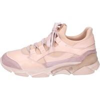 kengät Naiset Korkeavartiset tennarit Moma sneakers pelle tessuto Rosa