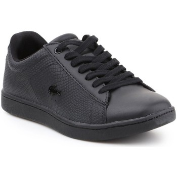kengät Naiset Matalavartiset tennarit Lacoste Carnaby Evo Mustat