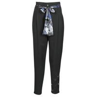 vaatteet Naiset Väljät housut / Haaremihousut Desigual CHARLOTTE Musta