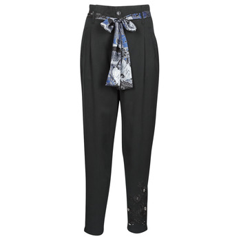 vaatteet Naiset Väljät housut / Haaremihousut Desigual CHARLOTTE Black