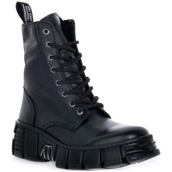 kengät Bootsit New Rock WALL ASA LUXOR NEGRO Nero
