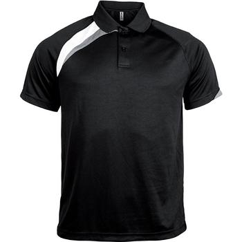 vaatteet Miehet Lyhythihainen poolopaita Proact Polo manches courtes  Sport noir/blanc/gris clair