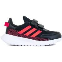 kengät Lapset Matalavartiset tennarit adidas Originals Tensaur Run I Mustat,Punainen
