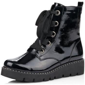 kengät Naiset Nilkkurit Remonte Dorndorf Lagro Black Ankle Boots Musta
