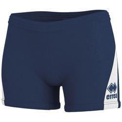 vaatteet Naiset Shortsit / Bermuda-shortsit Errea Short femme  kiara marine/blanc
