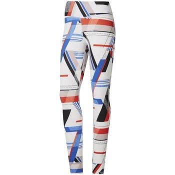 vaatteet Naiset Legginsit Reebok Sport One Series Lux Bold Valkoiset, Punainen, Vaaleansiniset