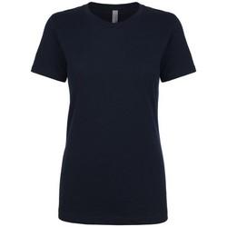 vaatteet Naiset Lyhythihainen t-paita Next Level NX3900 Midnight Navy