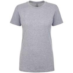 vaatteet Naiset Lyhythihainen t-paita Next Level NX3900 Heather Grey