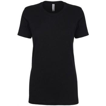 vaatteet Naiset Lyhythihainen t-paita Next Level NX3900 Black