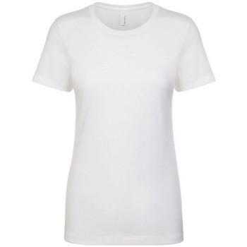 vaatteet Naiset Lyhythihainen t-paita Next Level NX3900 White