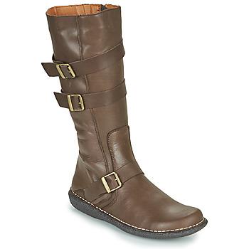 kengät Naiset Saappaat Casual Attitude NIBOOT Brown