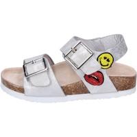 kengät Tytöt Sandaalit ja avokkaat Smiley Sandaalit BK509 Hopea