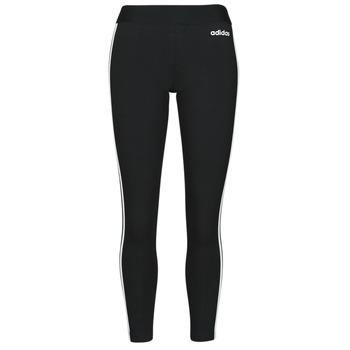 vaatteet Naiset Legginsit adidas Originals W E 3S TIGHT Musta / Valkoinen