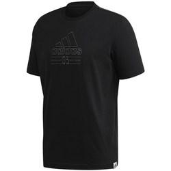vaatteet Miehet Lyhythihainen t-paita adidas Originals Brilliant Basics Tee Mustat