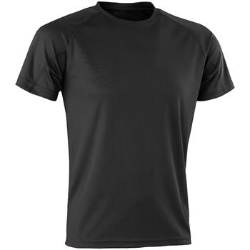 vaatteet Miehet Lyhythihainen t-paita Spiro SR287 Black
