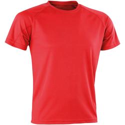 vaatteet Miehet Lyhythihainen t-paita Spiro SR287 Red