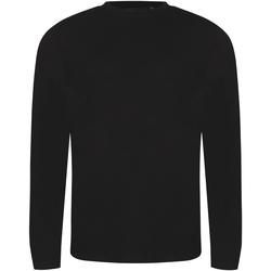 vaatteet Miehet T-paidat pitkillä hihoilla Awdis JT002 Solid Black