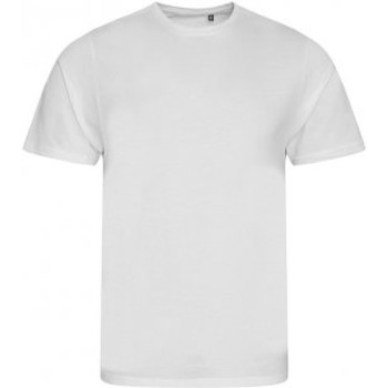 vaatteet Miehet Lyhythihainen t-paita Ecologie EA001 Arctic White