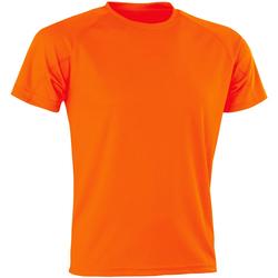 vaatteet Miehet Lyhythihainen t-paita Spiro SR287 Flo Orange