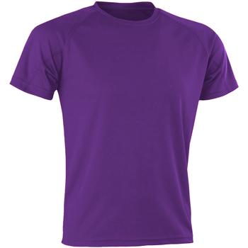 vaatteet Miehet Lyhythihainen t-paita Spiro SR287 Purple