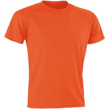 vaatteet Miehet Lyhythihainen t-paita Spiro SR287 Orange