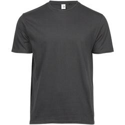 vaatteet Miehet Lyhythihainen t-paita Tee Jays TJ1100 Dark Grey