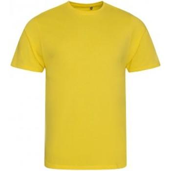 vaatteet Miehet Lyhythihainen t-paita Ecologie EA001 Sun Yellow
