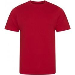 vaatteet Miehet Lyhythihainen t-paita Ecologie EA001 Fire Red