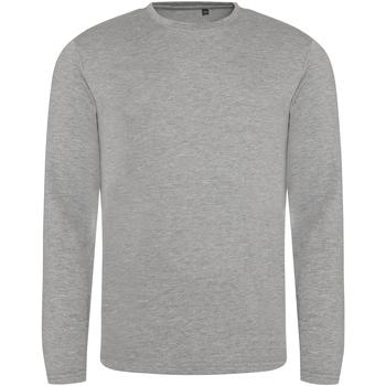vaatteet Miehet T-paidat pitkillä hihoilla Awdis JT002 Heather Grey