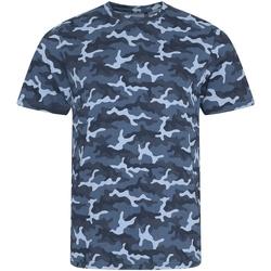 vaatteet Miehet Lyhythihainen t-paita Awdis JT034 Blue Camo