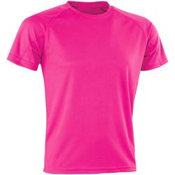 vaatteet Miehet Lyhythihainen t-paita Spiro SR287 Flo Pink