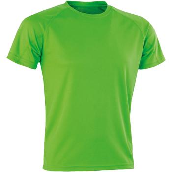 vaatteet Miehet Lyhythihainen t-paita Spiro SR287 Lime Punch