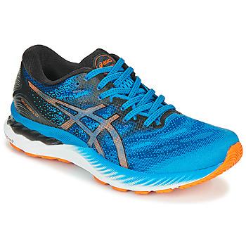 kengät Miehet Juoksukengät / Trail-kengät Asics NIMBUS 23 Sininen / Monivärinen