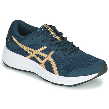 kengät Naiset Juoksukengät / Trail-kengät Asics PATRIOT 12 Sininen / Oranssi