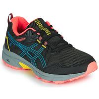 kengät Naiset Juoksukengät / Trail-kengät Asics VENTURE 8 Black / Blue