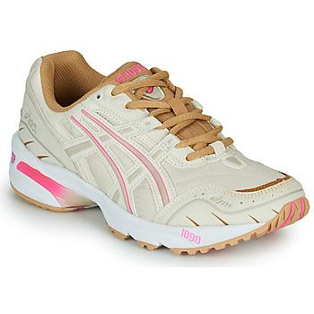 kengät Naiset Matalavartiset tennarit Asics 1090 Valkoinen / Vaaleanpunainen / Kulta