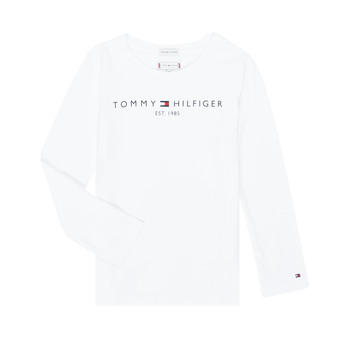 vaatteet Tytöt T-paidat pitkillä hihoilla Tommy Hilfiger KG0KG05247-YBR-C White