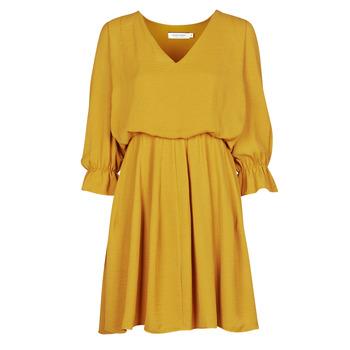 vaatteet Naiset Lyhyt mekko Naf Naf  Keltainen