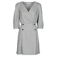 vaatteet Naiset Lyhyt mekko Naf Naf  Musta / Valkoinen