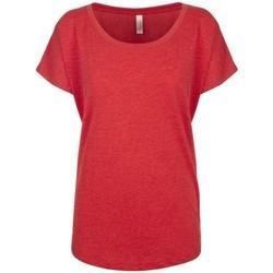 vaatteet Naiset Lyhythihainen t-paita Next Level NX6760 Vintage Red