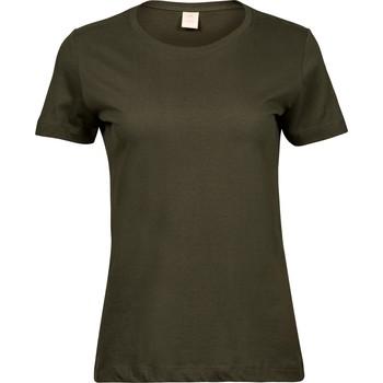 vaatteet Naiset Lyhythihainen t-paita Tee Jays T8050 Olive Green