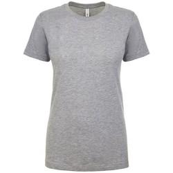 vaatteet Naiset Lyhythihainen t-paita Next Level NX1510 Heather Grey