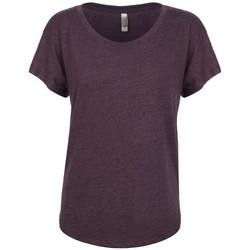 vaatteet Naiset Lyhythihainen t-paita Next Level NX6760 Vintage Purple
