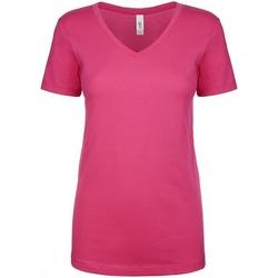 vaatteet Naiset Lyhythihainen t-paita Next Level NX1540 Raspberry