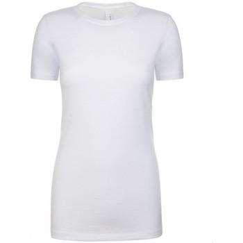 vaatteet Naiset Lyhythihainen t-paita Next Level NX6610 White