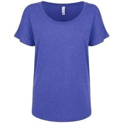 vaatteet Naiset Lyhythihainen t-paita Next Level NX6760 Vintage Royal Blue